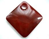 Red Carnelian Pendant - Large Genuine Deep Red Carnelian