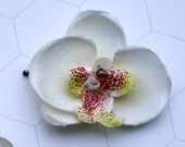Blythe Hair Accessory - Orchid Flower with Swarovski Crystal