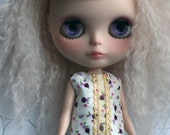 Blythe Dress - Floral and Gold Scallop