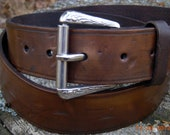 Leather Belt, Brown Leather Belt, Men's Leather Belt, Wide Brown Belt, Soft Brown Leather Belt
