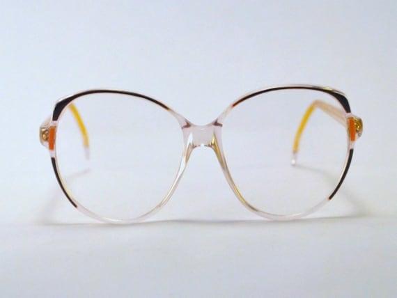 Vintage 80s Oversized Transparent/Purple Frames/Glasses.