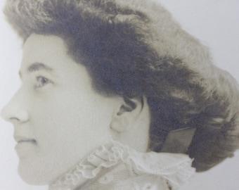 Antique Hand-Colored Edwardian Portrait