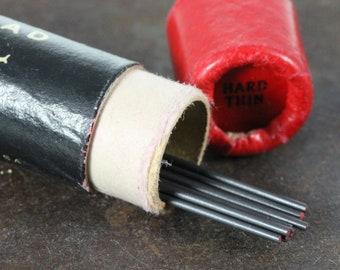 Eversharp Red Top Vintage Lead Cylinder Box - Hard Thin Black Lead