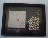 Framed 'Home is Where the Heart Is'