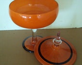Mod/Mid-Century Orange Candy Dish
