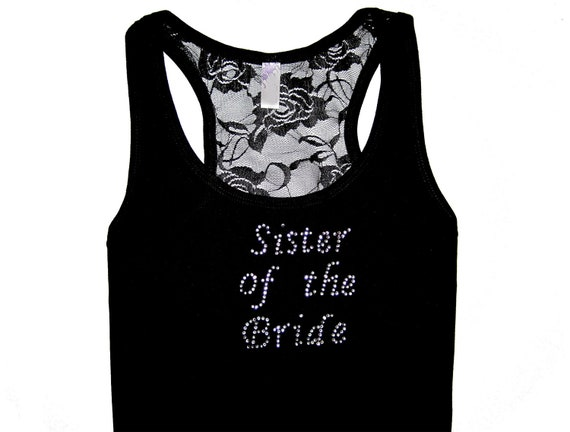 Sister of the Groom Lace Tank Top, Sister of the Bride Shirt, Personalized Bridesmaid Gifts, Personalized Shirt, Bridesmaid Proposal, Gift