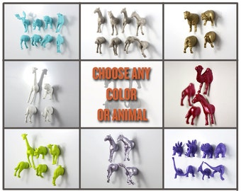 YOU PICK ANY Animal magnet type and color for childs birthday gift of 16 pieces (8 whole animals)