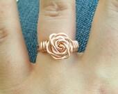 Rose Gold (Pink) Rose Rings
