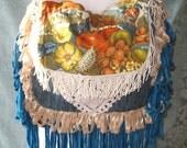 Bohemian Crossbody Gypsy Bags and Purses, Vintage Fabric Carpetbag Hippie Bag