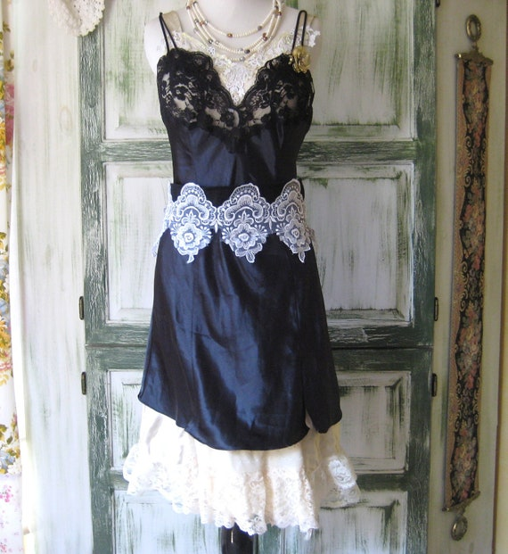 Women Rebel Upcycled Slip Dresses Lace and Satin Victorian Elegance Romantic Women Clothing