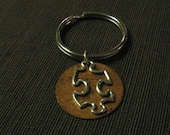 Custom Listing for Becky - Open Puzzle Piece Copper Keychains