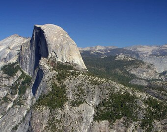 Half Dome In Yosemite Cross Stitch Pattern from a Vintage Photograph - Fiber Art Hobby Craft