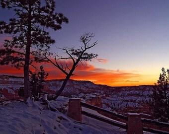 Sunrise at Bryce Canyon National Park Cross Stitch Pattern  - Vintage Photograph  - Fine Art Photography