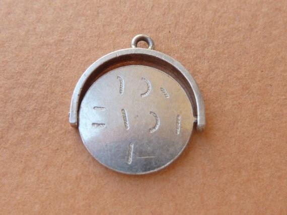 Vintage English sterling silver Spinner charm I Love You  Bracelet charm Pendant