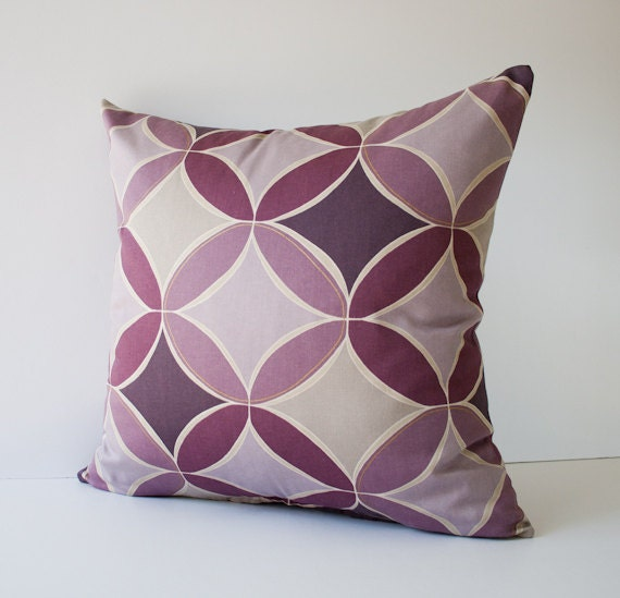 Purple Decorative Pillow : Purple circles pillow cover decorative pillow throw pillow