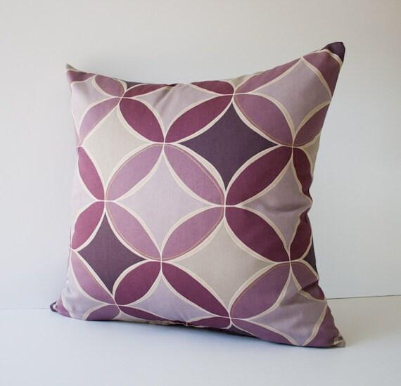 Decorative Pillows With Circles : Purple circles pillow cover decorative pillow throw pillow