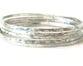 CUSTOM-Son Le-set of 5 silver bangle bracelets