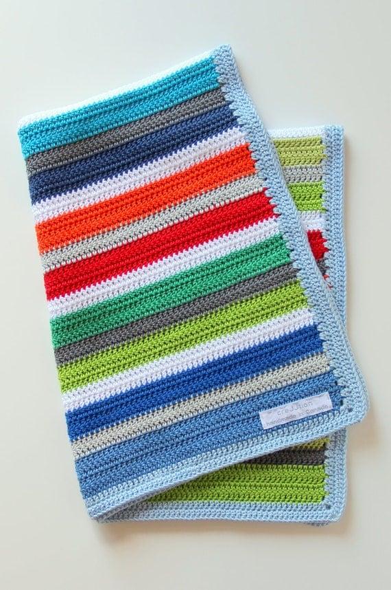 Crochet Baby Blanket Patterns On Etsy : Crochet pattern newborn baby blanket by creJJtion on Etsy