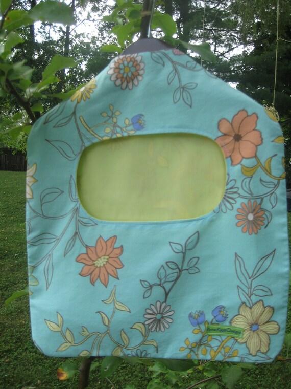 Colorful Floral Clothespin Clothespeg Bag