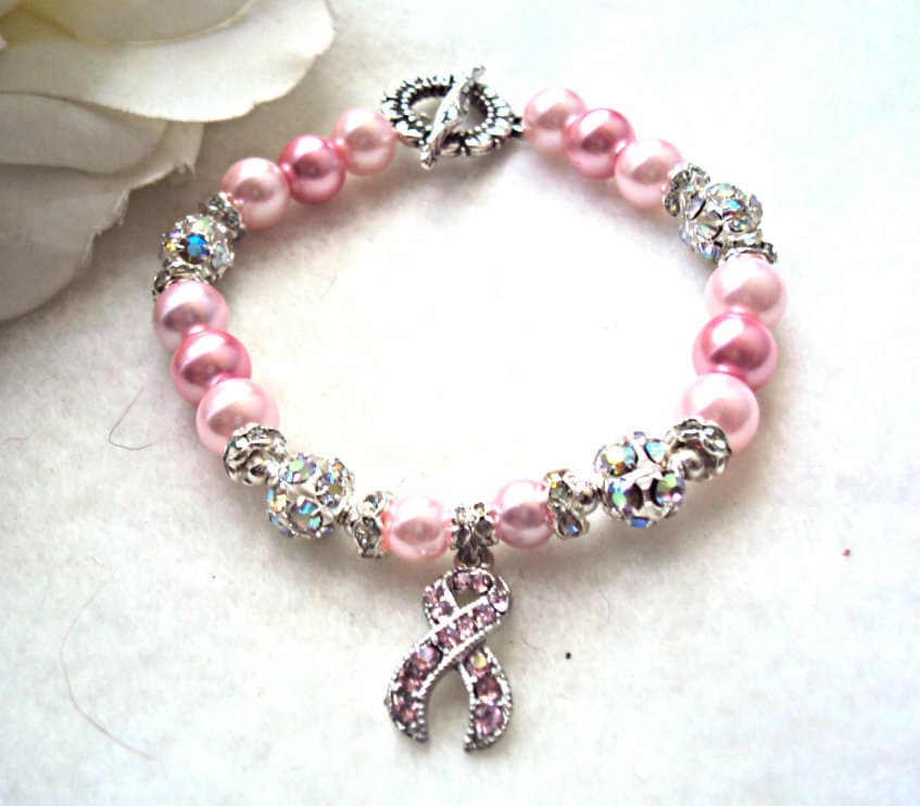 Beautiful Breast Cancer Awareness Bracelet