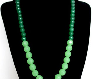 Shades of green necklace set