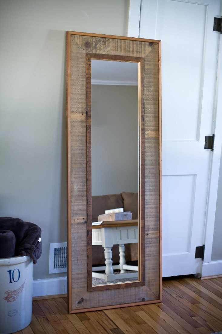 Full Length Mirror Framed In Barnwood