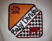 Baby Divided with applique Alabama vs Auburn