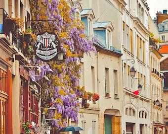 Parisian Side Street-Paris,France,Fine Art photo,multiple sizes available, Architecture,Landscape,Parisian, Floral, City Life,Buildings