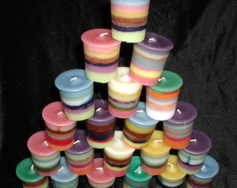 Rainbow Super Scented Votive Candle 12 pack