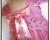 Girls Pink Chiffon Dress or Top Size 3-4