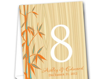 Bamboo Table Tent Numbers