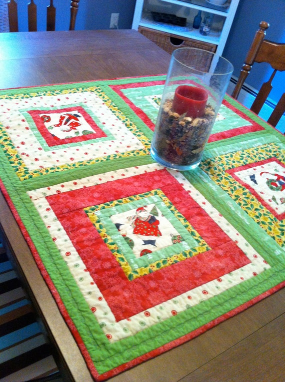 Santa and Snowman table topper