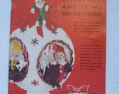 "1965 Craft House ""101 Styrofoam and Trim Decorations"" Booklet, 32 p. Color Pictures"
