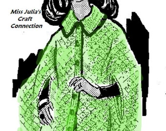 A BEST Vintage Shell Cape w Collar Miss & Plus Sz 429 PDF Digital Crochet Pattern
