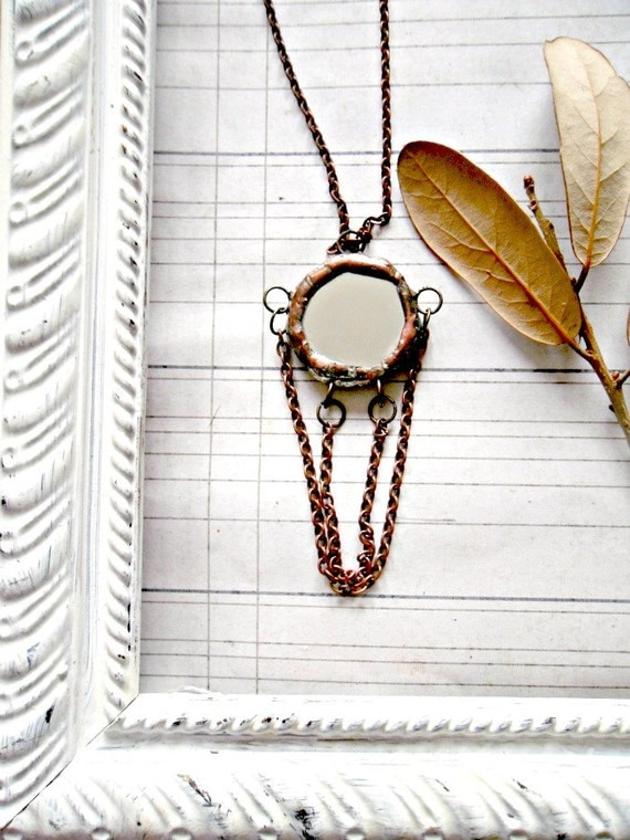 Country Chic Soldered Mirror Pendant