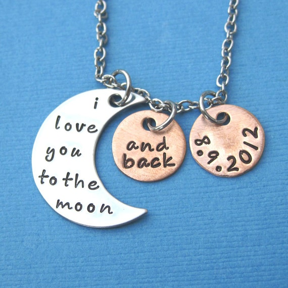 I Love You Quotes: Items Similar To I Love You To The Moon And Back Necklace