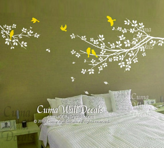 tree and bird wall decals nursery wall sticker branch by cuma love birds and branch tree wall sticker wallstickerdeal com