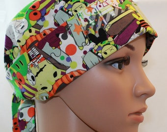 Halloween Apothecary,Chemo Style Surgical Scrub Hat,OR Nurses Scrub Cap,Vet, Vet Tech