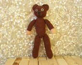 Teddy bear inspired by Mr. Bean's teddy bear (custom order)