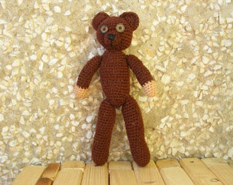 Teddy bear inspired by Mr. Bean's teddy bear (custom order)