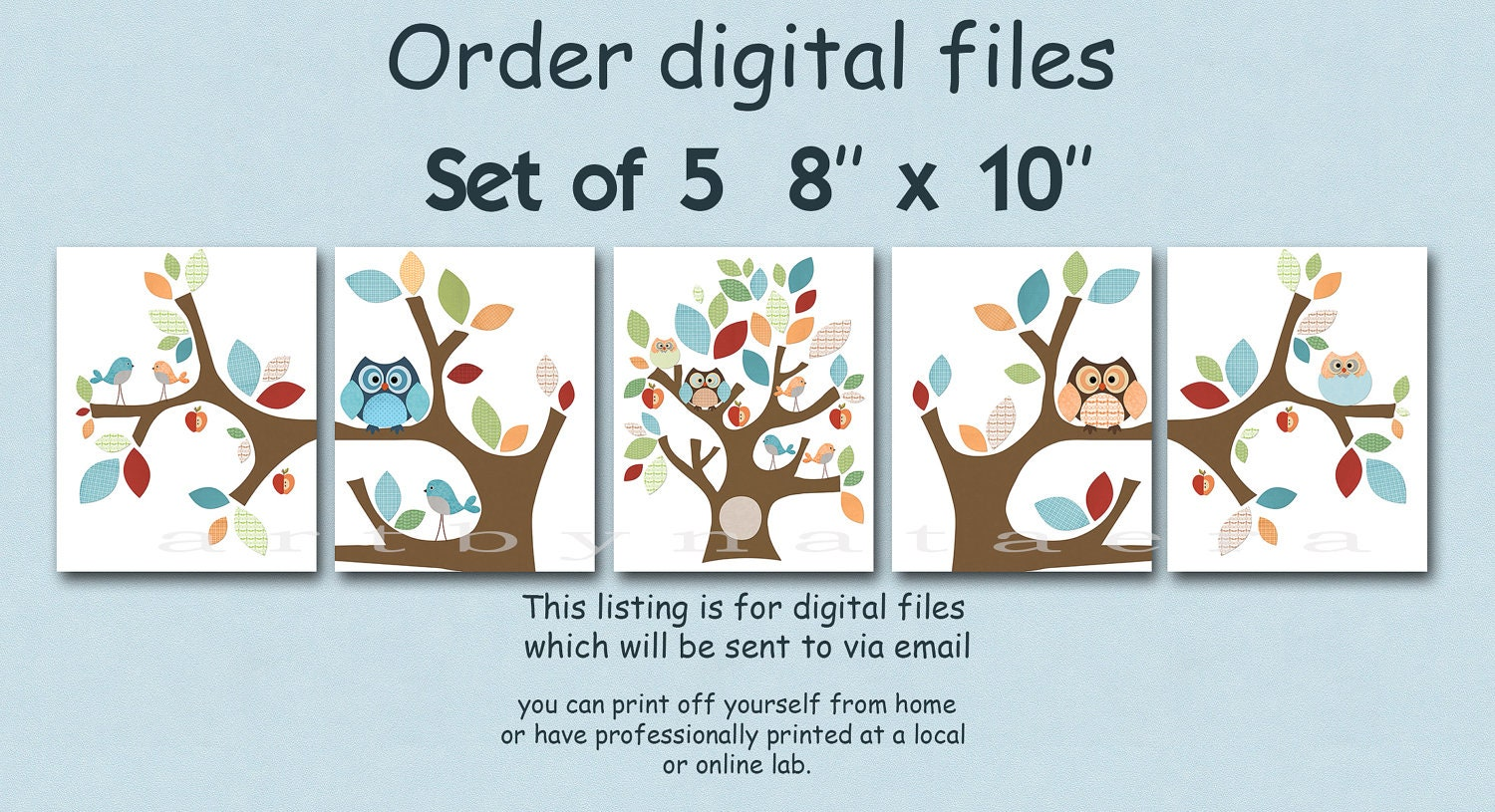 Printable Digital Print Nursery Wall Decor Kids Art