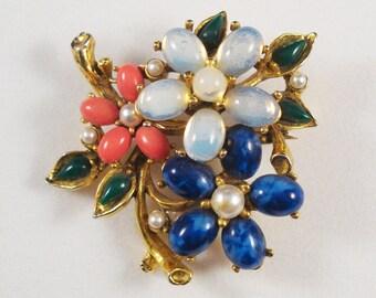 Vintage Floral Brooch by Art