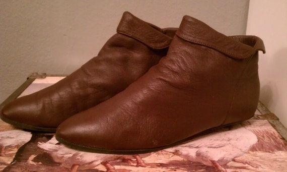 Vintage Karen Scott Peter Pan Ankle Boots size 8M