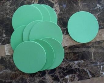10 Green Foam Circles