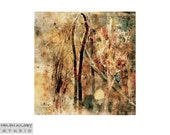 Rusts, brown, orange art print 'Coppice'