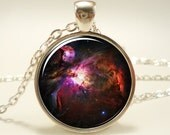 Orion Nebula Necklace, Galaxy Jewelry, Universe Pendant (1162S1IN)