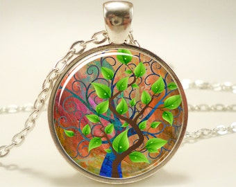 Tree Necklace, Nature Jewelry, Forest Pendant (1203S1IN)
