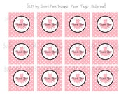 Tutu Ballerina Party- Favor Tags