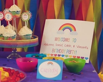 Printable Welcome Sign- Rainbow Collection