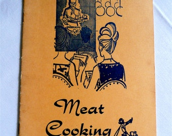 Vintage Cook Book - Cooking Instruction Booklet - Chef - Meat Recipes - Swifts Premium Brand - Retro Kitchen - Paper Ephemera - Theatre Prop